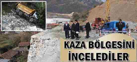 Kaymakam Memiş ile Başkan Kaya, Kaza Bölgesinde