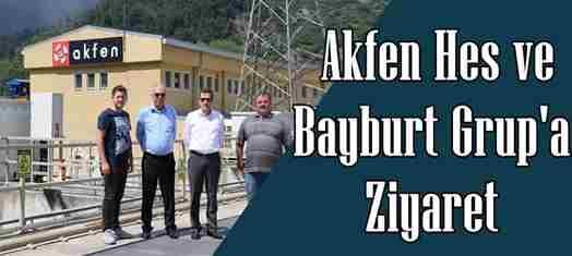 Memiş'ten Akfen ve Bayburt Grup'a Ziyaret