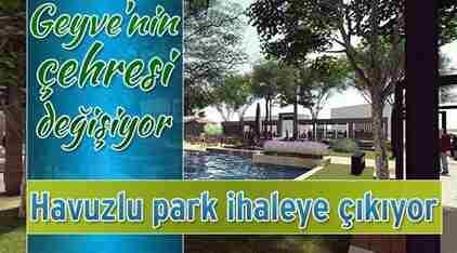 Geyve Belediye Parkı Yenileniyor