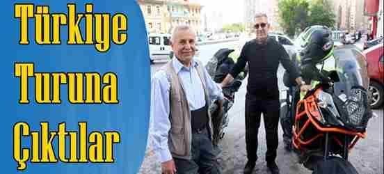 Motosikletleriyle Türkiye Turuna Çıktılar