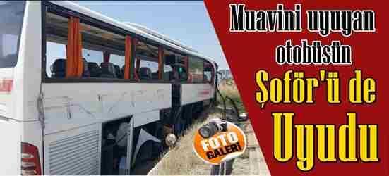Muavini Uyuyan Otobüs'ün Şoför'ü de Uyudu