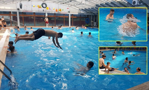 Sıcaktan Bunalanlar Bu Havuza Koştu..