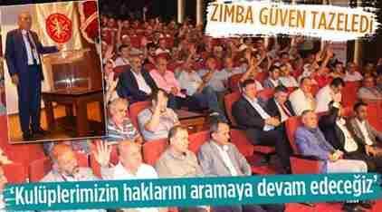 ASKF Başkanı Zımba Güven Tazeledi.
