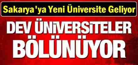 Sakarya'ya Yeni Üniversite Geliyor..