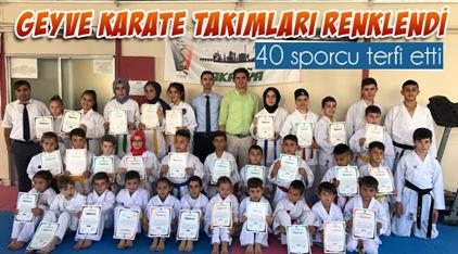 Geyve Karate takımları renklendi.