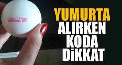 Yumurta Alırken Dikkat! Kod Uygulaması Başladı